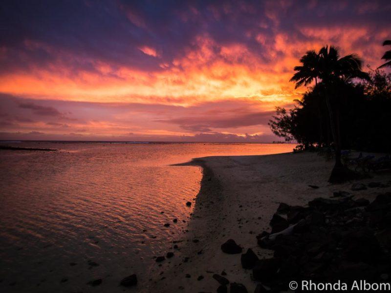Sunset at the Rarotongan Beach Resort & Spa in Rarotonga, Cook Islands