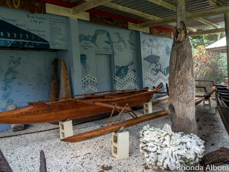 Vakas outside the Cook Islands Museum and Library