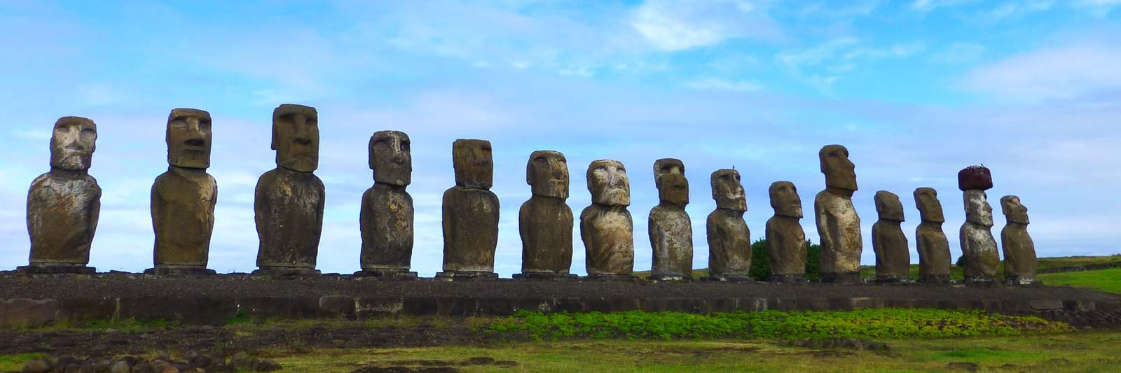 Easter Island heads for Chile travel tips