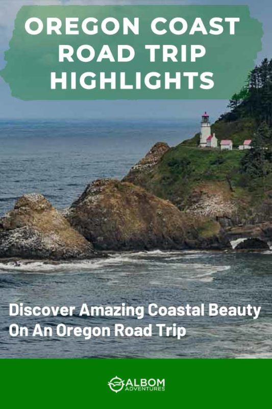 View of the Heceta Head lighthouse in Oregon USA