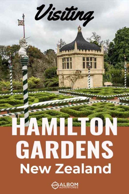A view of the Tudor Garden at Hamilton Gardens in Hamilton New Zealand