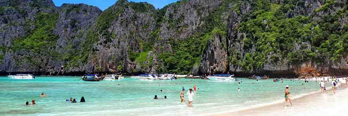 Maya Bay, one of the best beaches in Thailand
