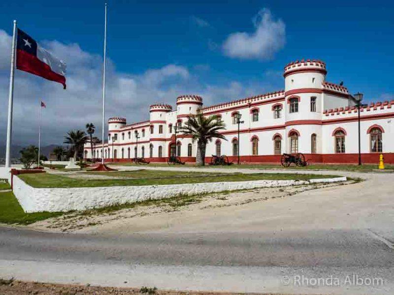 Mirador Santa Lucia, an active military base in La Serena Chile