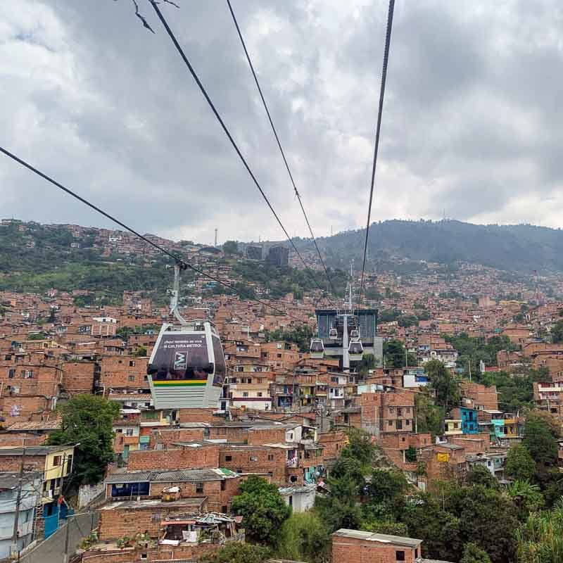 Metro cable car in Colombia