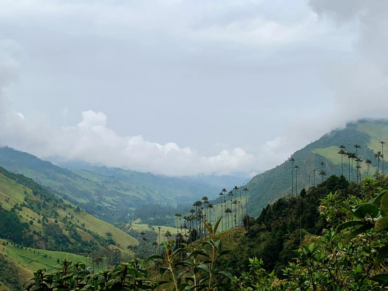 Overlooking Valle del Corcora in Salento is a must see when traveling to Colombia