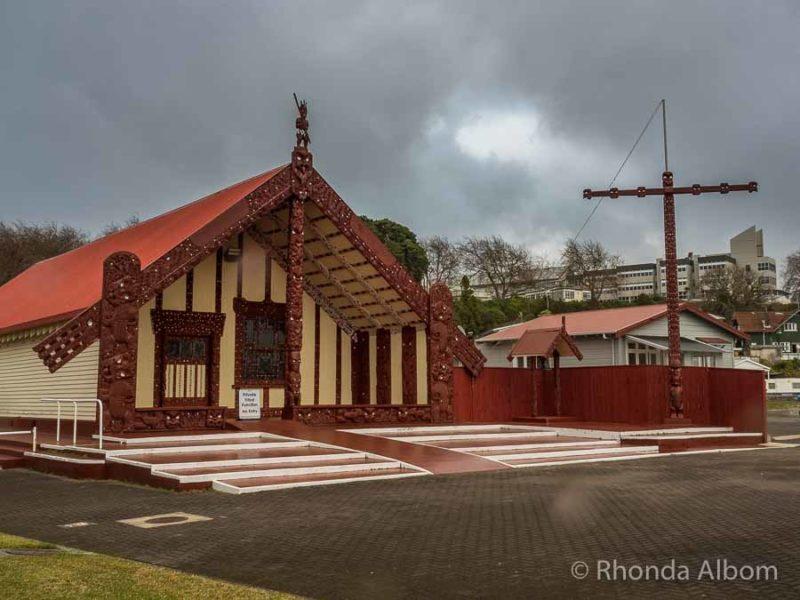 Marae at Ohinemutu Living Maori Village in New Zealand