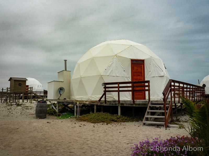 Dome tents are a hotel alternative on the beach in Chile