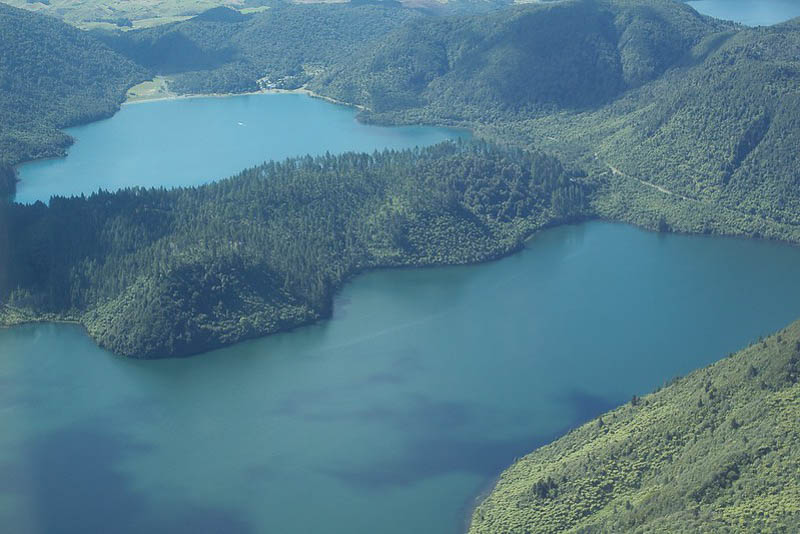 The Blue and Green Lakes