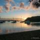Sunset over the water in Russell, Bay of Islands, New Zealand