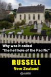 The Christ church and graveyard in Russell Bay of Islands New Zealand