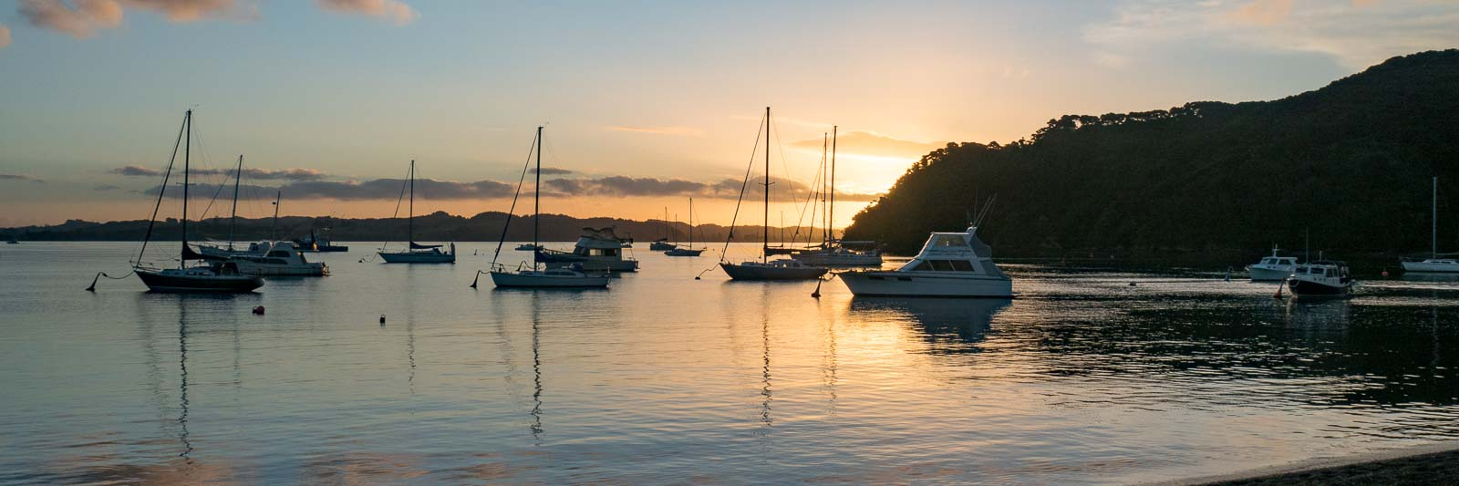 Sunset in Russell, Bay of Islands, New Zealand