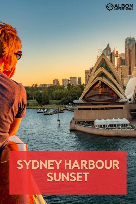 Vista del puerto de Sydney y la Ópera