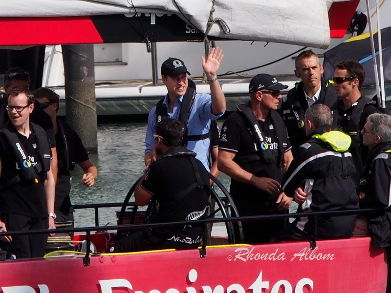 Prince William, Duke of Cambridge at the helm on a visit to Auckland