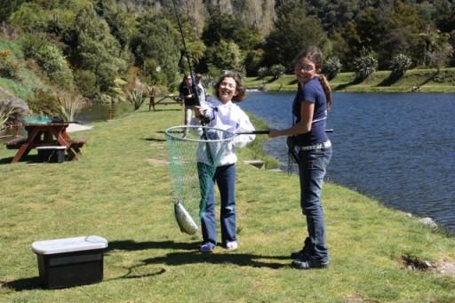 fishing at Anatoki Salmon Farm