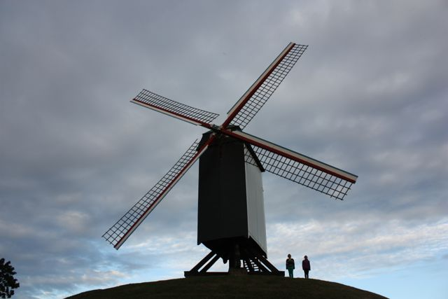 Windmill on the outskirts of Bruges Belgium