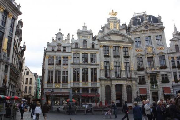Grote market in Belgium, Brussels