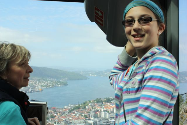 Bergen Norway from cable car