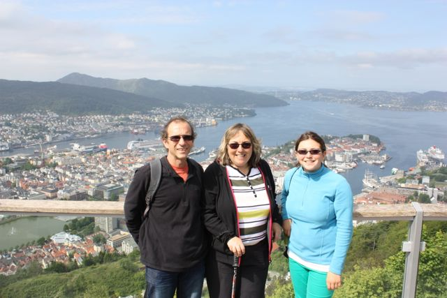 Bergen from top of Cable Car