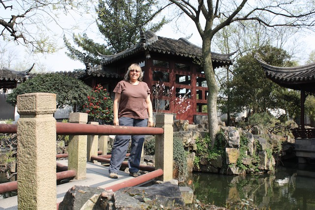 Me on a Zig Zag Bridge in Suzhou, China