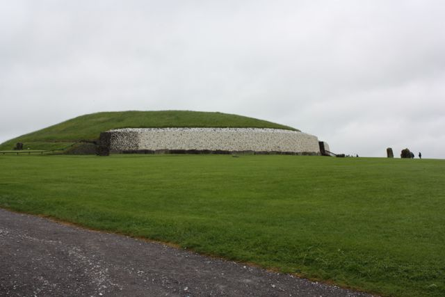 Our first look at the mound of the tomb of Newgrange in Ireland