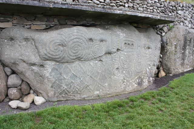 Inside newgrange a neolithic tomb in ireland