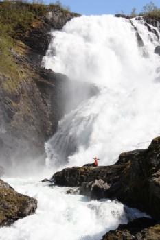 Kjosfossen waterfalls