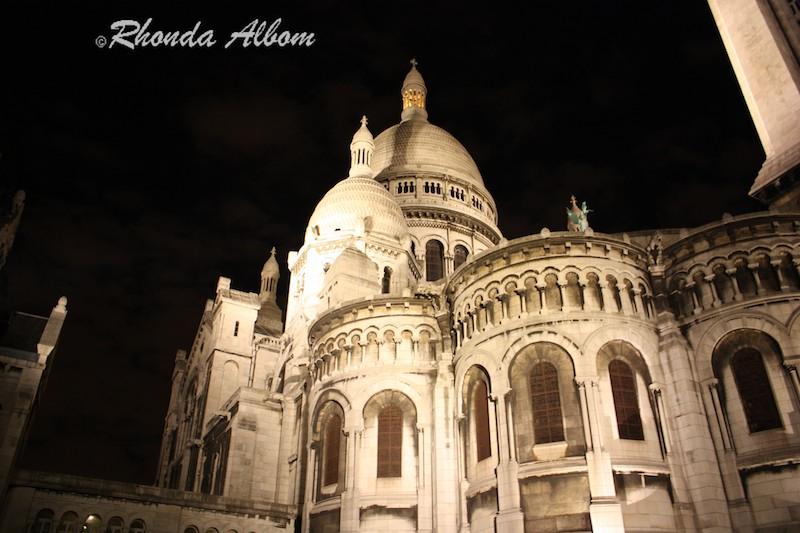 Sacre Coeur at night, Paris France