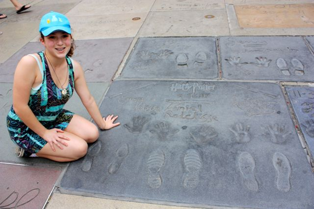 Hand and Foot Prints of the cast of Harry Potter at Grauman's Chinese Theater