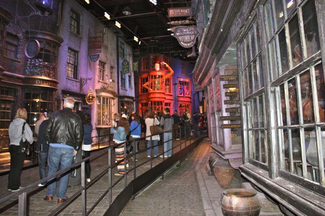 Diagon Alley seen in Harry Potter Studio Tour