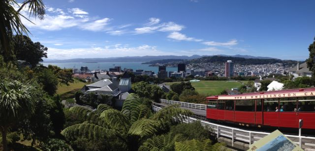 Taking the cable car in Wellington New Zealad during a week in wellington