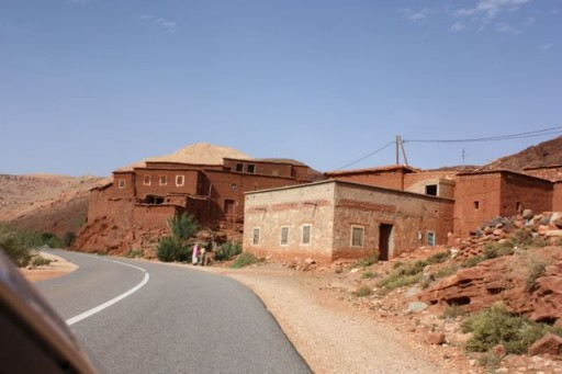 kasbah on the roadside