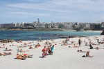 Beautiful La Coruña Beach on the Northwest Corner of Spain
