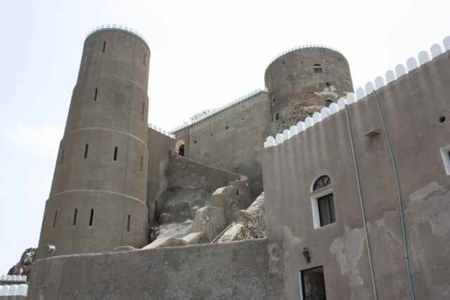 This is Al Mirani Fort. Along with Al Jalali Fort they protected the entrance to Muscat Harbour and the Royal Palace in Oman