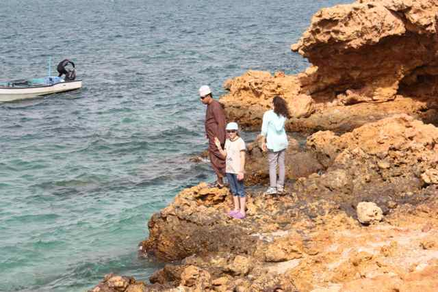 Where the Omani Sea and the Indian Ocean meet the water is crystal clear - Ras Al Hadd, Oman