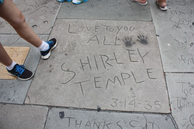 Hand and Foot Prints at Grauman's Chinese Theater.