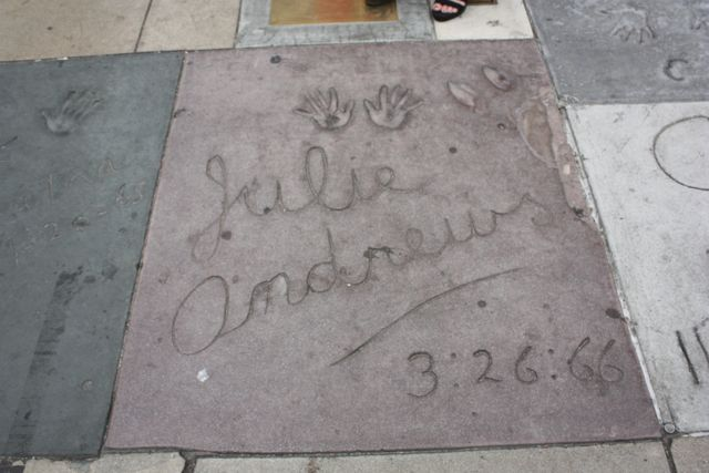 Julie Andrew's Hand and High Heels Print at Grauman's Chinese Theater