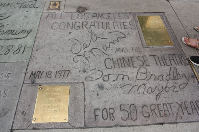 A message from the mayor at Grauman's Chinese Theatre