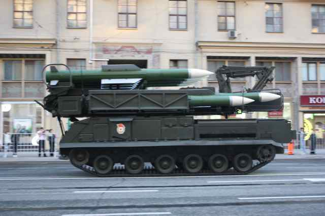 Russian anti-air missile launcher