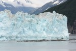 Hubbard Glacier and Floating Icebergs in Alaska