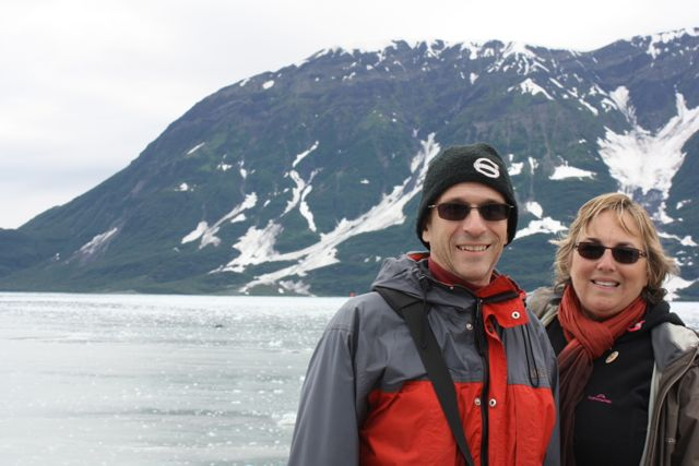 Hubby and I on the NCL Sun in Alaska