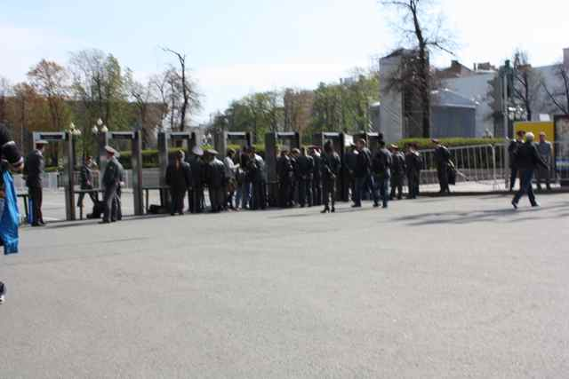 Moscow May Day parade security