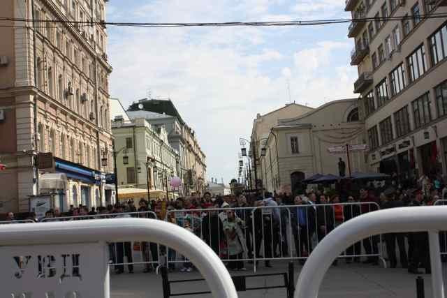 Moscow May Day parade street closure