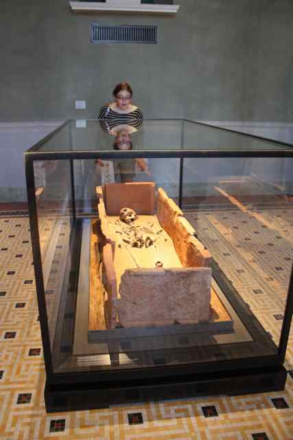 Egyptian mummy in the Neues Museum in Berlin Germany