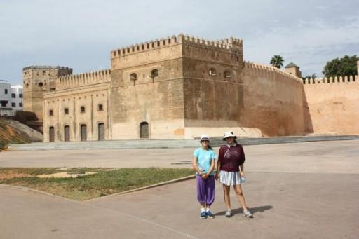 outside Rabat Kasbah, Morocco