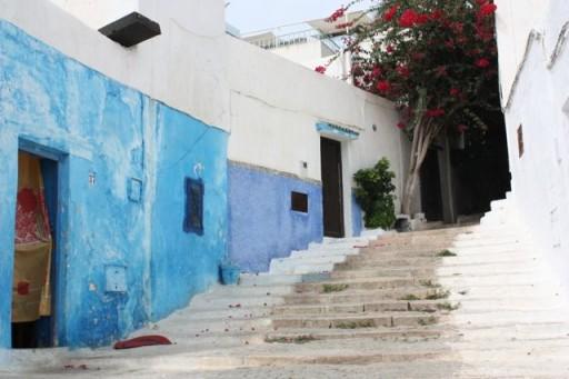 Blue walls of Rabat kasbah, Morocco