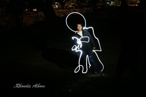Drawing with light at night