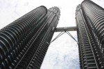 Petronas Towers are the worlds tallest twin structures.  We decided not to go up, as the observation deck is the bridge at floor 44 and we are going to Dubai in a few weeks and plan to go up in the world's tallest building.