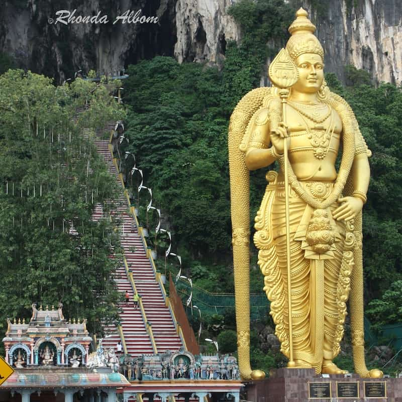 Lord Murugan Statue at the entrance to Batu Caves in Malaysia