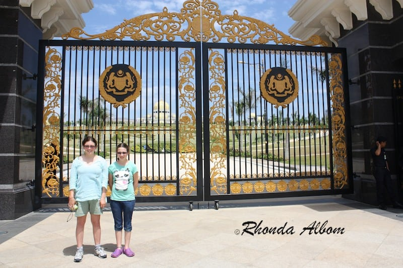 Gates of the New Palace in Kuala Lumpur, Malaysia