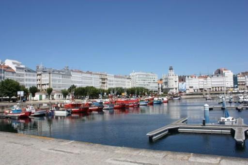 La Coruña city view